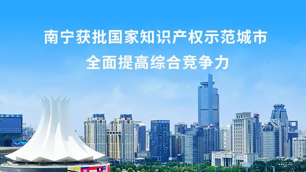 广西南宁市推商标战略获评国家知识产权示范城市